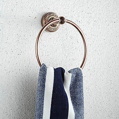 GJ-Antike continental Kupfer bad Handtuchhalter vintage Handtuchring