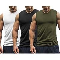 COOFANDY Lot de 3 débardeurs d'entraînement pour Hommes Gym Muscle Tee Bodybuilding Fitness T-Shirts sans Manches