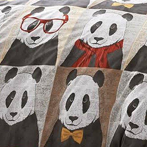 Brand New #Bedding Hugh Panda Love Duvet Bedding Set (Single (Includes 1 Pillowcase))