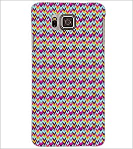 PrintDhaba ZigZag Pattern D-5909 Back Case Cover for SAMSUNG GALAXY ALPHA (Multi-Coloured)