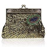 LAPLE Damen Clutch/Abendtasche, Vintage-Stil, zum Auffangen, für Hochzeiten, Brautpartys Gr. One...
