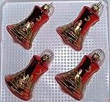 Christbaumkugel-Glocke 'Weihnachtszeit' glänzend 4Stck. per Box von 'Jingle Bells Lauscha'
