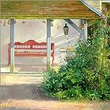Posterlounge Acrylglasbild 120 x 120 cm: Gartenpavillon von Timothy Easton/Bridgeman Images - Wandbild, Acryl Glasbild, Druck auf Acryl Glas Bild