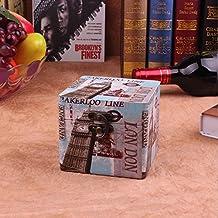 Y&M Cajas hechas a mano. estilo europeo como maleta madera caja. retro antiguo cuadro
