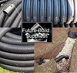 Various Perforated Land Drainage Piping Coil Pipe (25M x 80mm) for field or garden underground water run-off, drying out and dispersal