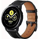 VANCHAN Armband kompatibelt med Galaxy Watch Active2 40 mm/44 mm armband, 20 mm läderrem ersättning för Galaxy Watch Active 2