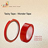SMITS Tacky Tape   Wonder Tape, doppelseitig, transparent (6 mm x 5 m)