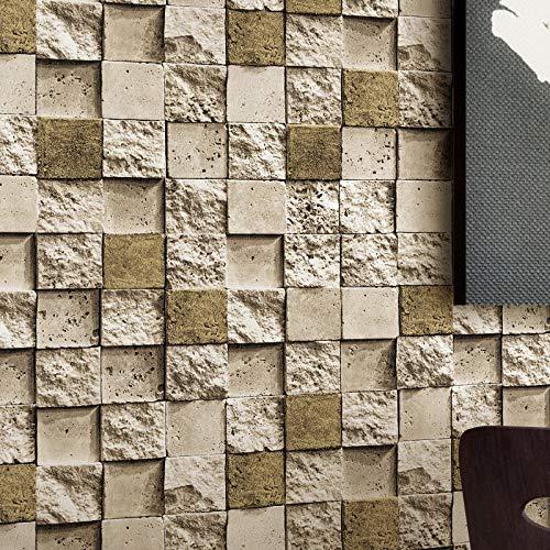 yhyxll Tapetentapeten-Shopsteinmosaikziegelstein PVC-Tapete 2 des roten Backsteins 3D