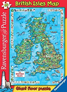 Ravensburger - British Isles Map - Giant Floor Puzzle - 60 pieces