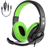 BlueFire Auriculares Gaming con Microfono para PS4 PC Xbox one, Cascos Gaming con Bass Surround Cancelacion Ruido,Diadema Aco