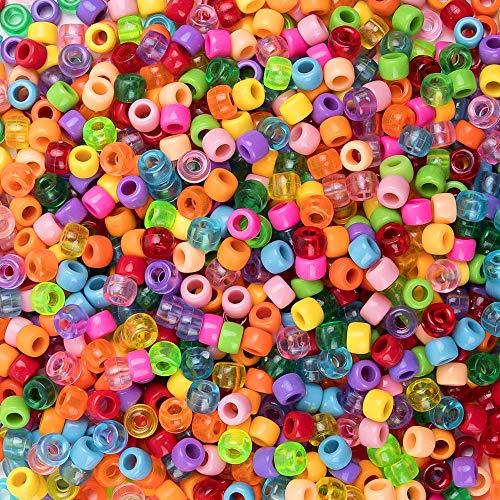 nte Perlen größe Loch Bastelperlen gemischte Farben Klar für Armband, Halsband DIY basteln ()