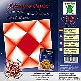 Adventus Papier Rot Weiß: Papier für Buch: Adventus Kugel - Weihnachtskugel mit Sternen als Dekoration zur Weihnachtszeit (ISBN 978-3-938127-22-3) ... als Dekoration zum Advent und Weihnachten)