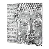 [art.work] Cuadro original para pared pintado a mano Buda sobre lienzo bastidor...
