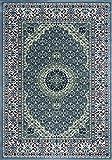 Teppich rund maschinell Perserteppich Medaillon - 80X150 - Grau - 7422C