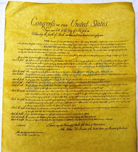 Bill of Rights Poster (23 X 29) by Historical Documents -