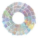 Frcolor 24 Hojas de Placas de Impresión de Uñas Plantilla de Guía de Vinilo para Clavos