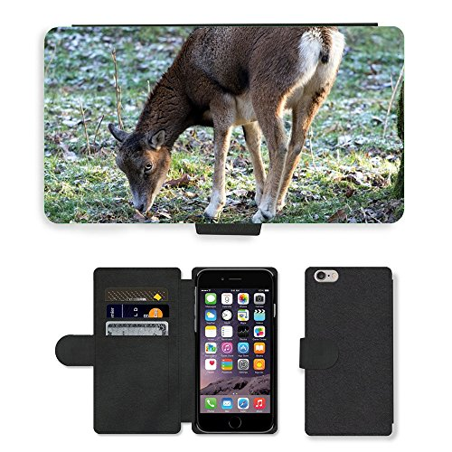 Just Mobile pour Hot Style Téléphone portable étui portefeuille en cuir PU avec fente pour carte//m00139831Capricorne Animaux Sauvages femelle//Apple iPhone 6Plus 14cm