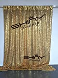 ShinyBeauty Sequin Backdrop - Backdrop Photography and Photo Booth Backdrop for wedding/Party/Photography/Curtain/Birthday/Christmas/Prom/Other Event Decor - 4FTx6FT(48inx72in) (gold) by ShinyBeauty