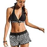 DURINM Bikini Mujer Conjuntos Brasileño Sexy Mujer Playa Ropa de Baño Traje de Baño Bañador de Baño Tops y Braguitas 2 Piezas
