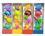 Cute Fish pencil Eraser (4 Pcs)