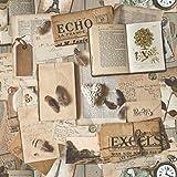 Muriva–Carta da parati vintage, vecchio riviste e libri, Multicolore, J94607
