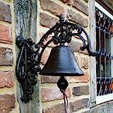 Antikas - Glocke, Gartenglocke im Landhausstil Türglocke mit schönem Haltearm - toller Klang