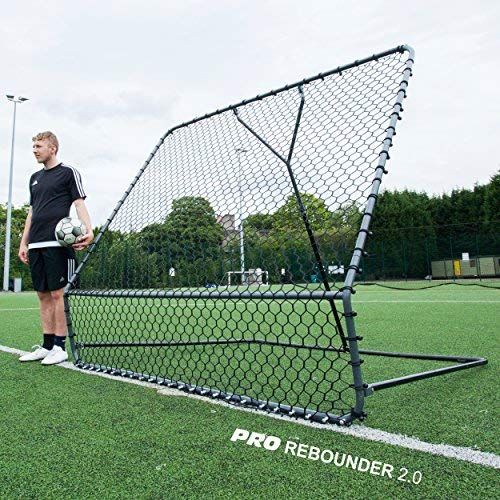 QUICKPLAY PRO Rebounder 2.1 x 2.1M – Fußball-Netzrückprallwand; Netz mit verstellbarem Abprallwinkel – NEU 2018 –