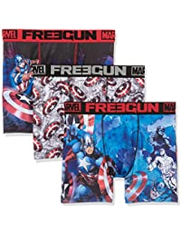 Freegun Marvel X3, Boxer Homme, (lot de 3)