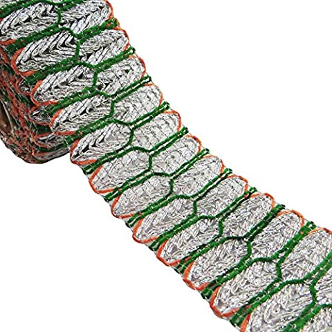 trenzadas plata cinta artesanal adornos decorativos 6,3 cm cinta ancha sari por el patio