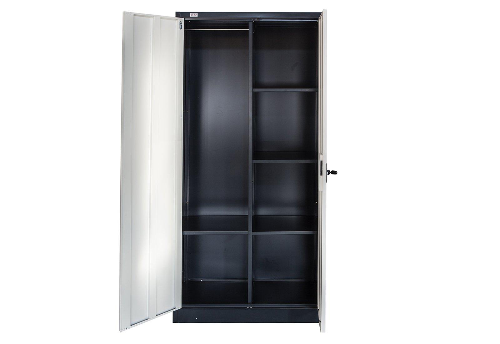 Armadio Ufficio Con Chiavi : Schedario omsk set di grigio scuro bianco con appendiabiti ufficio