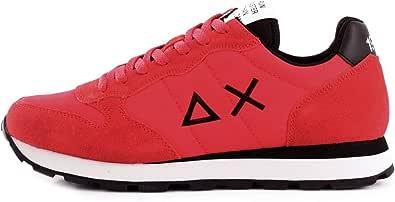 SUN68 Sneaker Running Tom Solid Nylon/Pelle Scamosciata Beige/Navy Blu U21SU06
