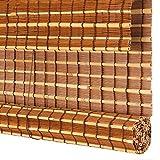 Cortina di bambù TH Bamboo Roll Up Blinds - Light Filtering Shades Privacy Drape, Personalizzazione del Supporto dello Schermo del Soggiorno (Dimensioni : 120×220cm)