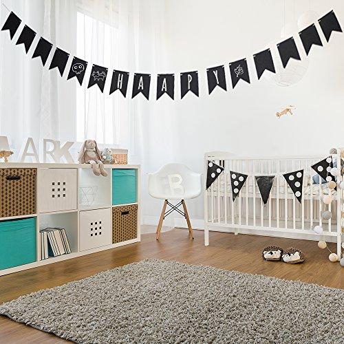 Decdeal Tafel Girlande Banner Chalk Board aus Holz für Party Deko (Holz-tafel-banner)
