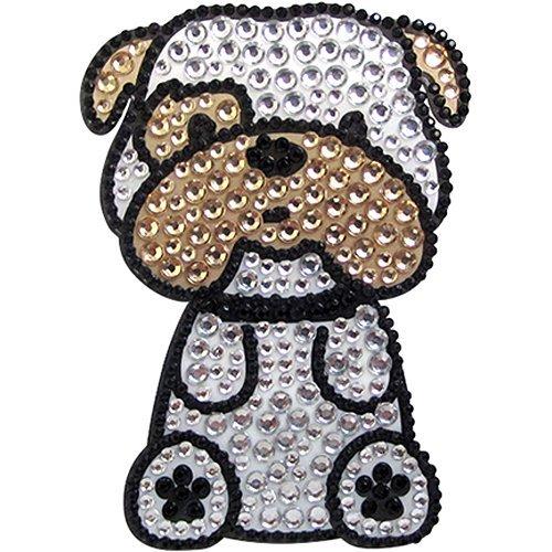 FouFou Dog 92952 Rhinestone Stickers Bulldog Geschenkidee Aufkleber -