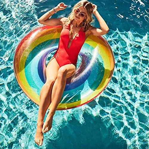 Hunpta@ Schwimmring, Schwimmender Pool Aufblasbarer Regenbogen Schwimmen-Ring Erwachsener Frucht Schwimmring 120CM, 90CM, 80CM, 70CM, 60CM (90CM)