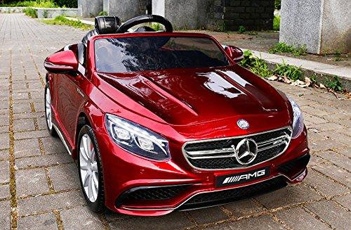 *Mercedes-Benz S63 AMG Cabriolet Ride-On 12V Elektro Kinderauto Kinderfahrzeug Kinder Elektroauto (ROT PAINT)*