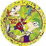 Disney Amscan 23cm Phineas und Ferb 10-Paper Teller