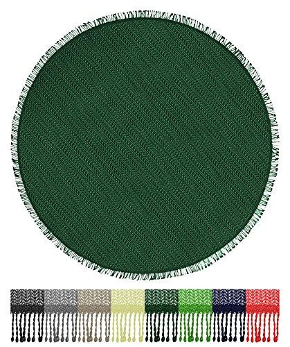 Brandsseller Gartentischdecke Tischdecke - wetterfest und Rutschfest für Garten, Balkon und Camping - Rund 140 cm - Farbe: Grün