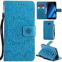 25d9025c995ad8 Ooboom® Samsung Galaxy A5 2017 Coque Motif Tournesol PU Cuir Flip Housse  Étui Cover Case