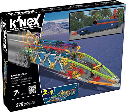 K�NEX Land Rocket Building Set for Ages 7+, Engineering Educational Toy, 275 Pieces