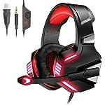 VersionTECH. Casque Gaming pour PS4, PC, Xbox One, Casque Gamer Audio Stéréo Filaire avec Micro, LED, pour Nintendo...