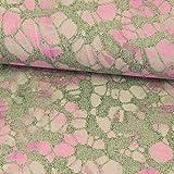 Stoffe Werning Viskosejersey Grafisches Muster pink grau
