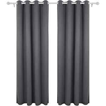 Deconovo Super Soft Thermal Insulated Curtains Eyelet Bedroom Blackout For Nursery With Matching Tie Backs