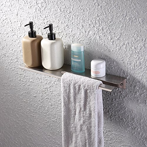 Kes–mensola da doccia in acciaio inox 45,7cm o 45cm per doccia da bagno cucina mensola sospesa 1.8-mm extra spessore finitura di montaggio a parete in acciaio inox spazzolato, bsc217s45–2