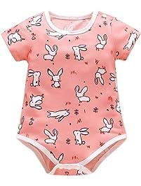 5059546caec1 BOBORA Barboteuse Bébé, Vêtements Bébé Naissance Combinaisons de Lapins à  Manches Courtes en Coton pour