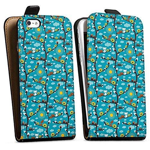 Apple iPhone X Silikon Hülle Case Schutzhülle Wolken Sonnenblumen Eichhörnchen Downflip Tasche schwarz