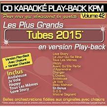 CD Karaoké Play-Back KPM Vol.42 Tubes 2015