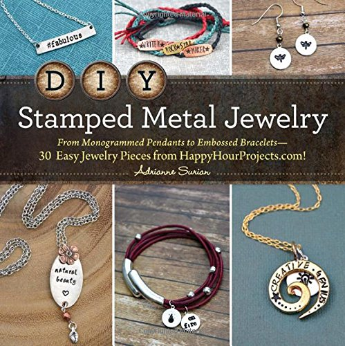 DIY Stamped Metal Jewelry: From Monogrammed Pendants to Embossed Bracelets - 30 Easy Jewelry Pieces from Happyhourprojects.com!