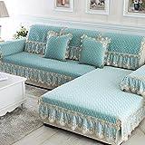 Cojines de sofá/Super color sólido moda continental suave terciopelo cristal cojines de sofá/ estera de péndulo vertical de franela deslizante sofá-D 90x120cm(35x47inch)