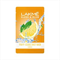 Lakmé Blush & Glow Lemon Sheet Mask, 20 ml